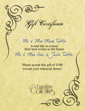 Catering gift certificate template choice image certificate catering gift certificate template gallery certificate design catering gift certificate template image collections certificate catering gift yelopaper Image collections
